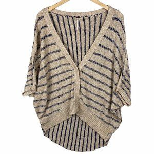 Free People Cream Button Cardigan Med